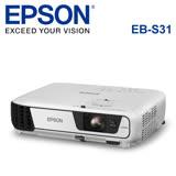 EPSON 台灣愛普生 EB-S31 液晶投影機-加送100吋投影布幕