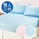 【CERES】防潑水透氣雙人三件式床包保潔墊(B0554-M)