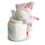 Luft Bubu牛圓桶衛生紙座-粉紅