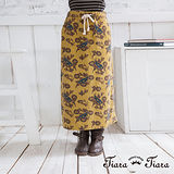 【Tiara Tiara】花漾草履蟲綁帶長裙(土星黃/深水藍)