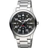 ORIENT 東方錶 SP 系列 飛行運動石英錶-綠x銀/42mm FUNG2001F