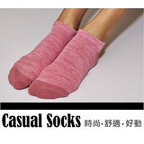 HANG TEN 船型彩色防滑襪-黑/丈青/粉