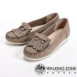 【WALKING ZONE】(女)蝴蝶結造型可愛休閒淑女鞋-灰(另有紅/藍)