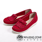 【WALKING ZONE】(女)蝴蝶結造型可愛休閒淑女鞋-紅(另有灰/藍)