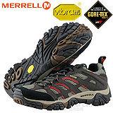 【美國 MERRELL】男新款 MOAB Gore-tex 專業防水透氣登山健行鞋 J87323 深咖