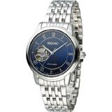 精工 SEIKO Presage 羅馬假期開心小鏤空機械女錶 4R38-01A0B SSA857J1 藍