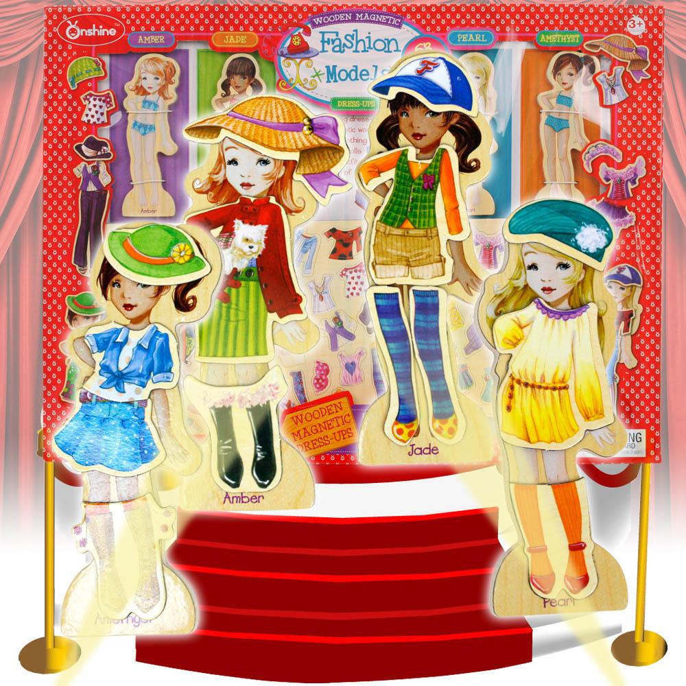 【funKids】女孩變裝秀磁性益智玩具63PCS含小車收納盒(Super Model)