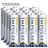 【日本製TOSHIBA】IMPULSE高容量低自放電電池(2450mAh 3號16入)