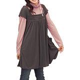 日本Portcros 現貨-甜美壓折大口袋二件式綁帶洋裝(黑X白/L)