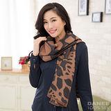 岱妮蠶絲 - 純蠶絲保暖刷毛圍巾(咖啡凍奶茶)