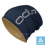 【瑞士 ODLO】中性款 雙層抗UV彈性透氣保暖帽(僅45g.可遮耳雙面載)防晒帽/極輕超柔細彈力纖維.抗UV.快乾/792680 海軍藍/麥金