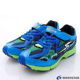 日本月星競速童鞋-閃電爆發競速款(SSJ6435藍綠20cm-24cm)