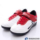 日本月星競速童鞋-創新爆發足球款-(SSJ6701紅白-20cm-24.5cm)