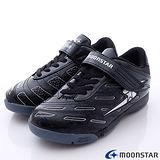 日本月星競速童鞋-創新爆發足球款(SSJ6706黑-20cm-24.5cm)