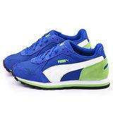 PUMA 大童 輕量透氣運動鞋358770-06-藍