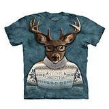 【摩達客】(預購) 美國進口The Mountain 文青麋鹿人 純棉環保短袖T恤
