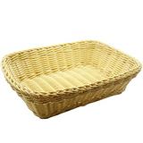 【收納職人】鄉村風收納裝飾編織置物籃PP藤編籃(A4米黃)