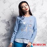 BOBSON  女款仿兩件式上衣 (35092-54)