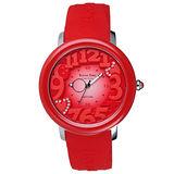 Roven Dino羅梵迪諾  漫步星雲時尚輕質量腕錶-紅