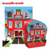 【美國Crocodile Creek】迷你造型拼圖系列-英勇消防