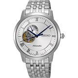 SEIKO Presage 24小時顯示開芯機械錶-銀/39mm 4R39-00M0S(SSA267J1)