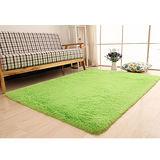 【幸福揚邑】舒壓長毛羊絲絨超軟防滑吸水地毯-140x200cm-果綠