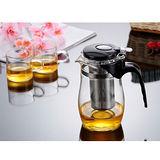 【茶道壺】耐熱玻璃不銹鋼茶漏泡茶壺/飄逸壺900ML(XY-938Z)