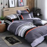 OLIVIA 《 夏洛特 灰 》 雙人床包枕套三件組