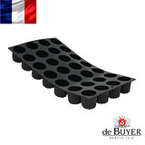 法國【de Buyer】畢耶烘焙『黑軟矽膠模系列』28格迷你法式可麗露烤模