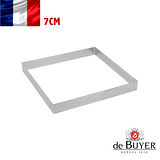 法國【de Buyer】畢耶烘焙『法芙娜不鏽鋼氣孔塔模系列』方形帶孔7公分塔模
