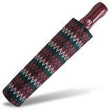 【rainstory】幾何織紋(深紅)抗UV雙人自動傘