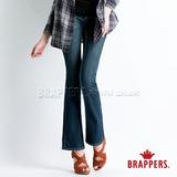 (女)BRAPPERS 女款 新美腳 Royal 系列-女用彈性青銅爪釦小喇叭褲-藍