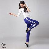 WINCEYS 韓版時尚風運動休閒九分褲-寶藍