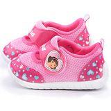 童鞋城堡-朵拉 中小童 可愛心型運動鞋DR87075-粉