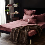Neutral / Color 精梳絨 胡桃木 雙人加大三件式床包枕套組