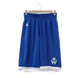 adidas(男)運動短褲-藍-AC0411