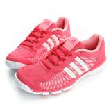 adidas(女)慢跑鞋-粉桃紅-B25323