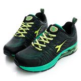 DIADORA(男)慢跑鞋-黑/綠-DA5AMR2765