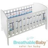 英國 BreathableBaby 透氣嬰兒床圍 兩側型 (19432魔法森林款)