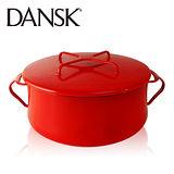 【丹麥DANSK】琺瑯雙耳燉煮鍋18.5cm(尊貴紅)