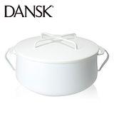 【丹麥DANSK】琺瑯雙耳燉煮鍋18.5cm(典雅白)