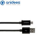 anidees 3A MicroUSb 充電/傳輸線 0.3M