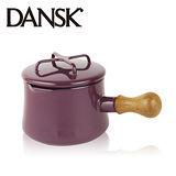 【丹麥DANSK】琺瑯柚木單把燉煮鍋13.5cm(高貴紫)