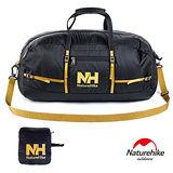 Naturehike 戶外旅行大容量折疊防水抗刮手提肩背包 38L(黑色)