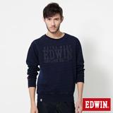 EDWIN 江戶勝INDIGO繡字厚T恤-男-藍色