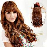 【PS Mall】一片式半頂五扣 甜美大捲髮片假髮 (P030)