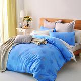 美夢元素 自由風情 精梳純棉雙人特大四件式 全鋪棉兩用被床包組