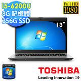 TOSHIBA Z30-C-01V00M 13.3吋《1.2kg_Win7專業版》i5-6200U 256G SSD 日系輕薄美型機★贈原廠筆電包+原廠滑鼠