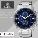 CITIZEN Eco-Drive光動能情人節推薦計時腕錶-藍/43mm/CA0610-52L/禮物/現貨