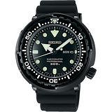SEIKO PROSPEX 50周年特別款300米潛水錶-黑/48mm 7C46-0AG0D(SBBN035J)